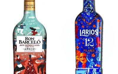 Barceló y Larios sacan ediciones especiales de sus botellas para Pilares