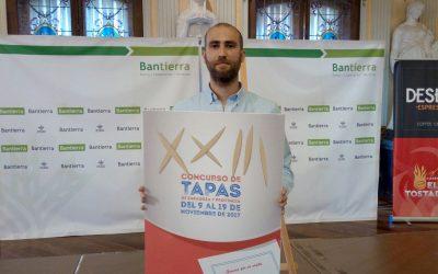 Jorge Malo Muniesa, ganador del cartel del Concurso de Tapas de Zaragoza