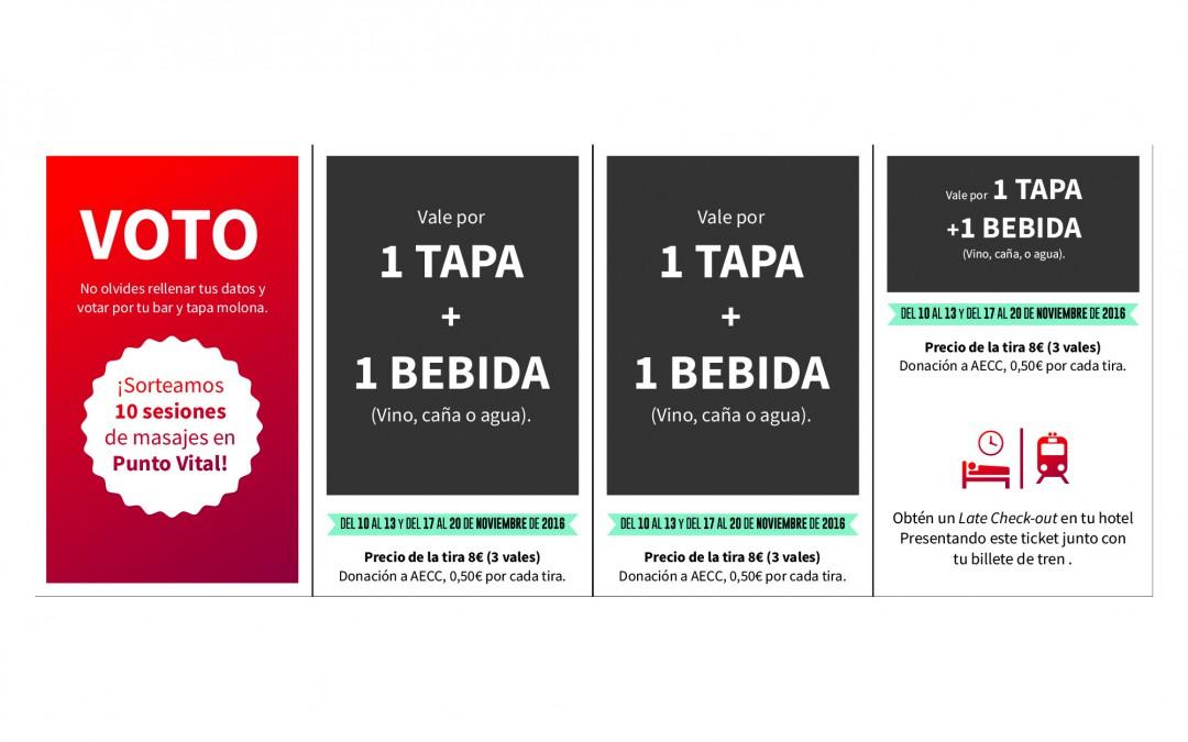 ¿Quieres ganar bonos para el Concurso de Tapas de Zaragoza?