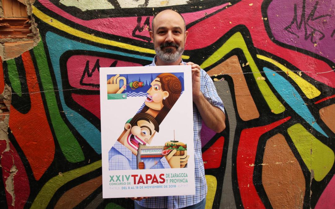 """""""Z"""", cartel ganador que representará al  XXIV Concurso de Tapas de Zaragoza y provincia"""