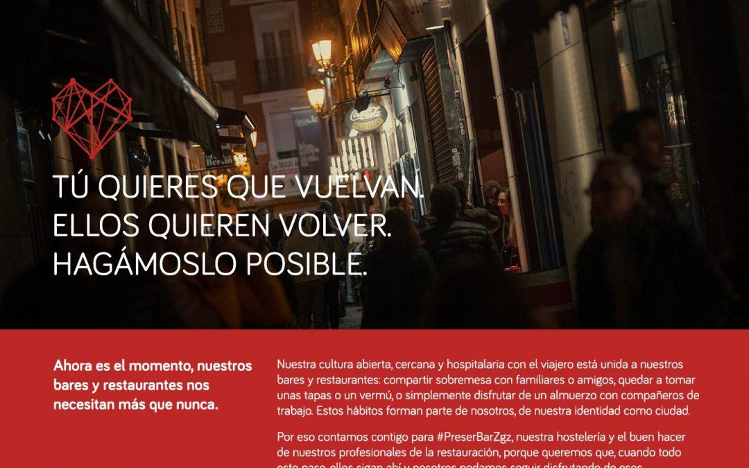 #PreserBarZgz, una iniciativa para que bares y restaurantes vendan bonos a precios cerrado
