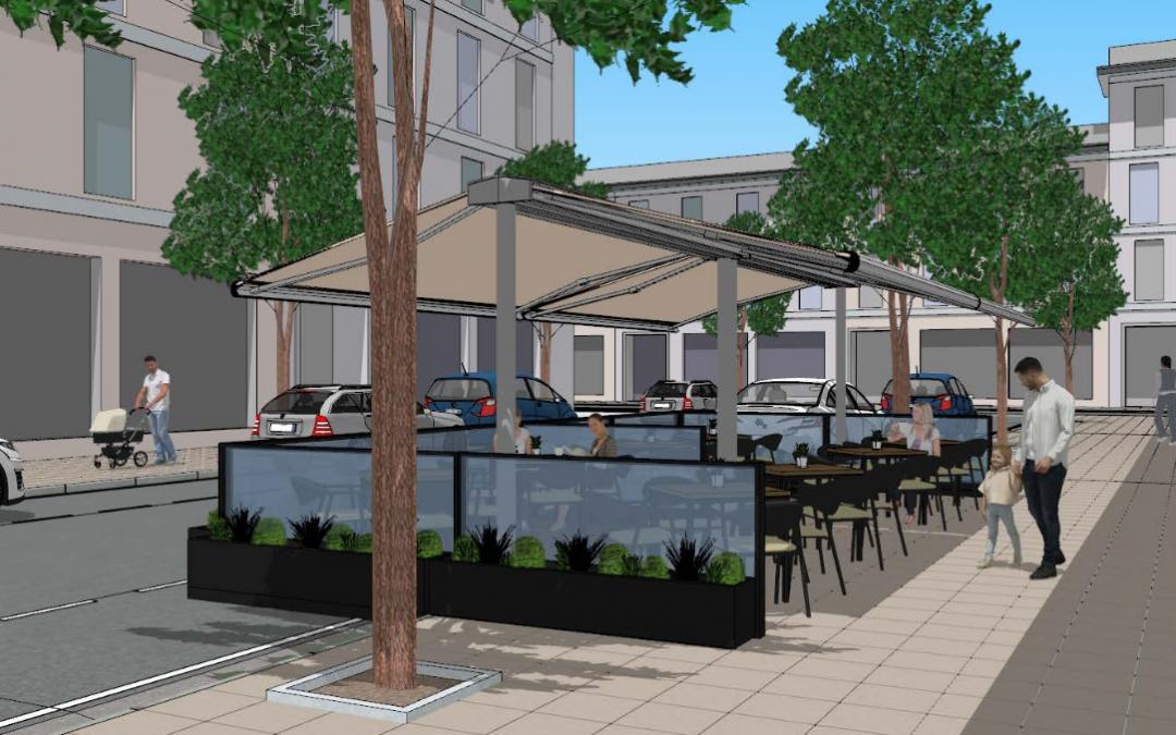 El Ayuntamiento actualizará los criterios para facilitar este invierno la instalación de mobiliario y estufas en terrazas y veladores de la ciudad