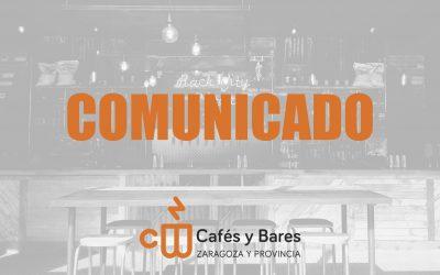 Comunicado ante las nuevas medidas anunciadas por el Gobierno de Aragón
